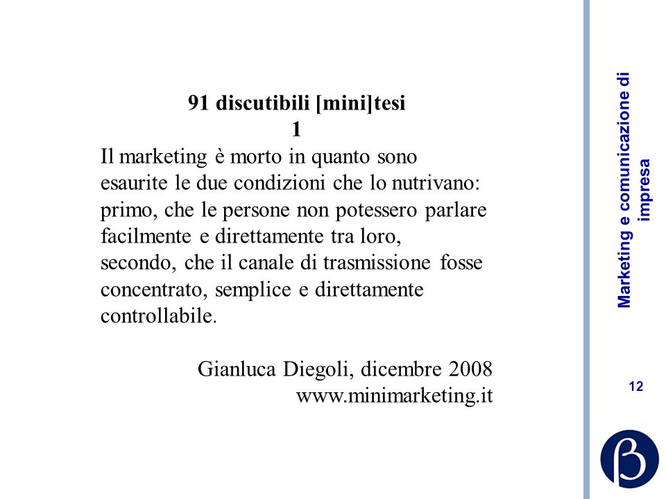 91 discutibili [mini]tesi
